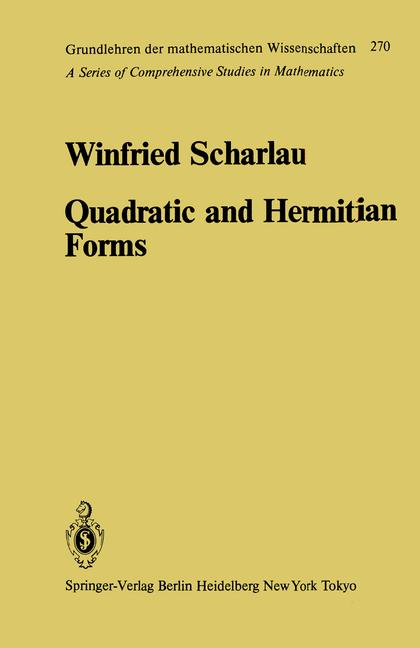 Cover of 'Quadratic and Hermitian Forms'