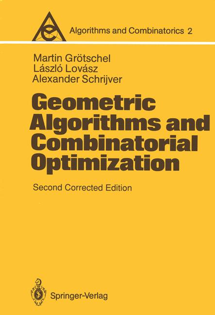 Cover of 'Geometric Algorithms and Combinatorial Optimization'