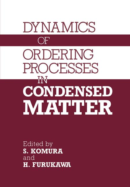 Cover of 'Dynamics of Ordering Processes in Condensed Matter'