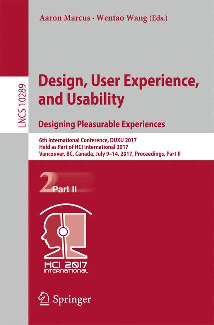 Cover of 'Design, User Experience, and Usability: Designing Pleasurable Experiences'