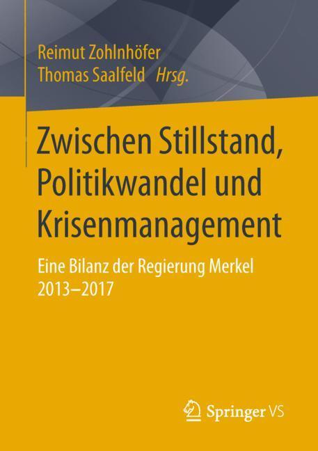 Cover of 'Zwischen Stillstand, Politikwandel und Krisenmanagement'
