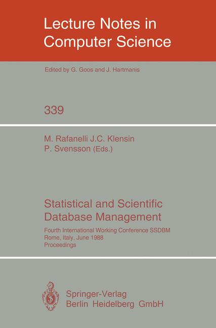 Cover of 'Statistical and Scientific Database Management'