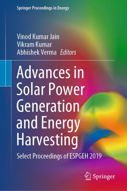 Cover of 'Advances in Solar Power Generation and Energy Harvesting'