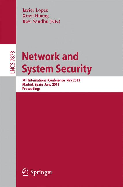 Cover of 'Network and System Security'