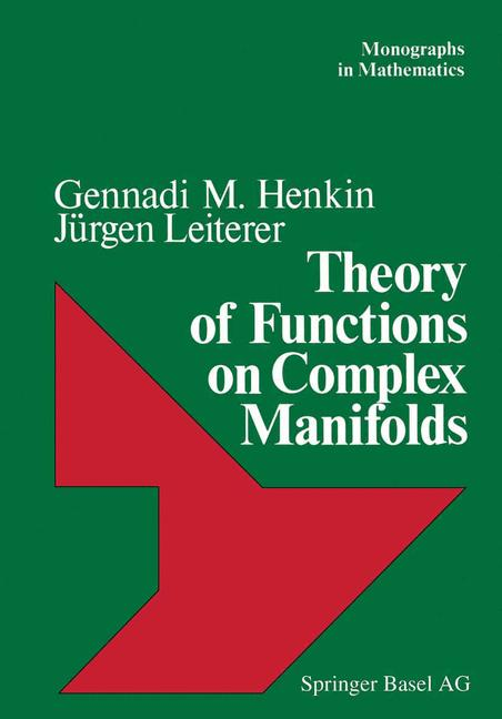 Cover of 'Theory of Functions on Complex Manifolds'