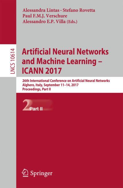 Cover of 'Artificial Neural Networks and Machine Learning – ICANN 2017'