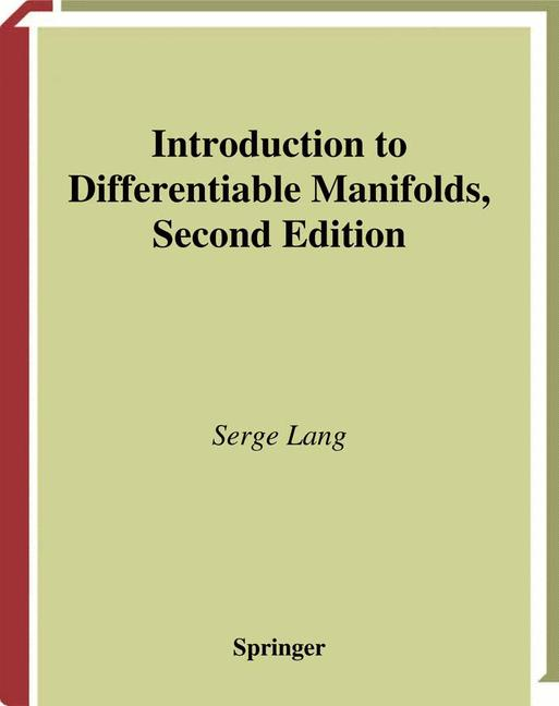 Cover of 'Introduction to Differential Manifolds'