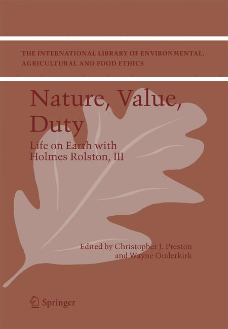 Cover of 'Nature, Value, Duty'