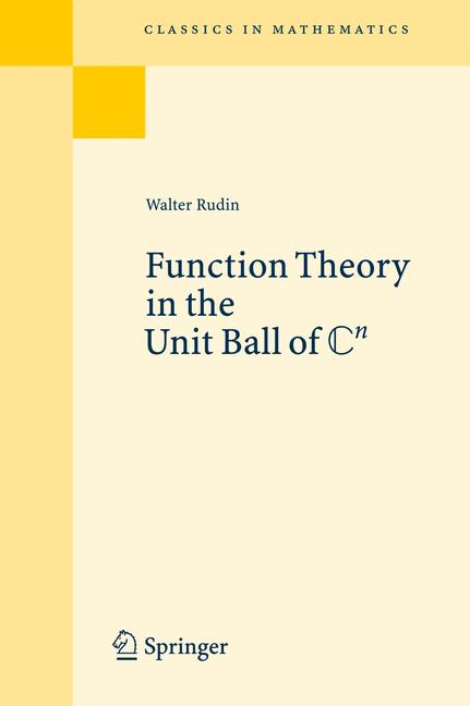 Cover of 'Function Theory in the Unit Ball of ℂ n'