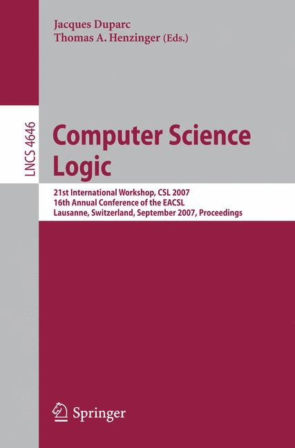 Cover of 'Computer Science Logic'
