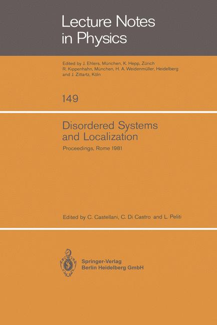 Cover of 'Disordered Systems and Localization'