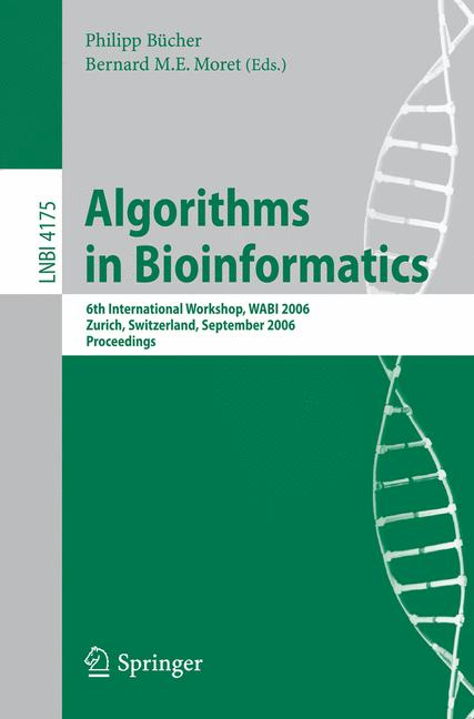Cover of 'Algorithms in Bioinformatics'