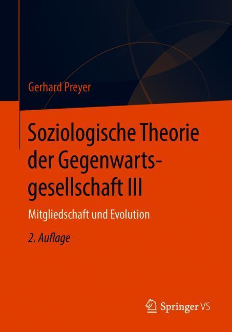 Cover of 'Soziologische Theorie der Gegenwartsgesellschaft III'