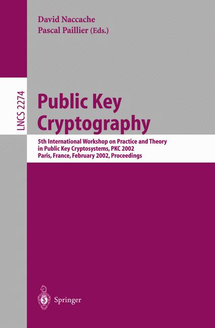 Cover of 'Public Key Cryptography'