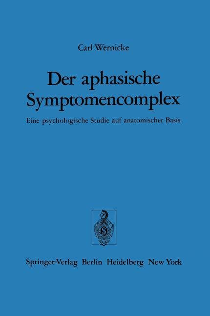 Cover of 'Der aphasische Symptomencomplex'