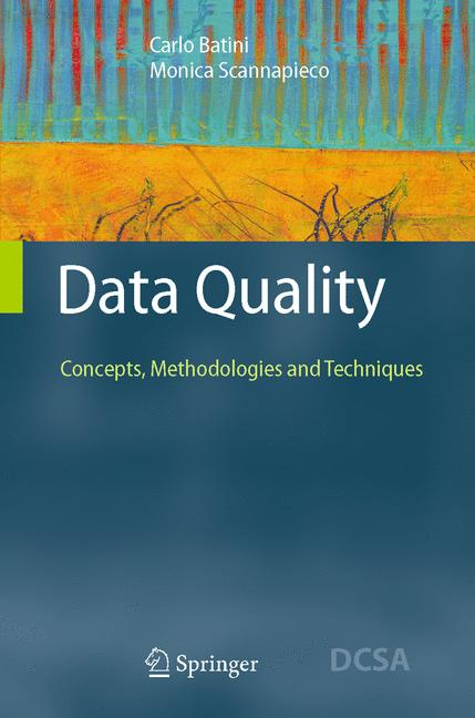 Cover of 'Data Quality : Concepts, Methodologies and Techniques'