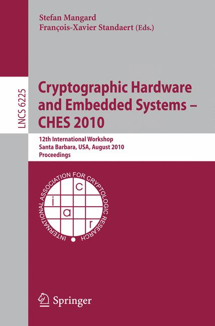 Cover of 'Cryptographic Hardware and Embedded Systems, CHES 2010'