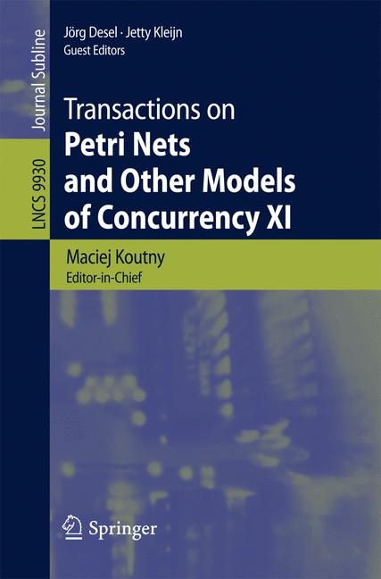 Cover of 'Transactions on Petri Nets and Other Models of Concurrency XI'