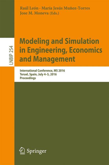 Cover of 'Modeling and Simulation in Engineering, Economics and Management'