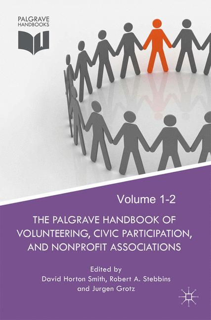 Cover of 'The Palgrave Handbook of Volunteering, Civic Participation, and Nonprofit Associations'