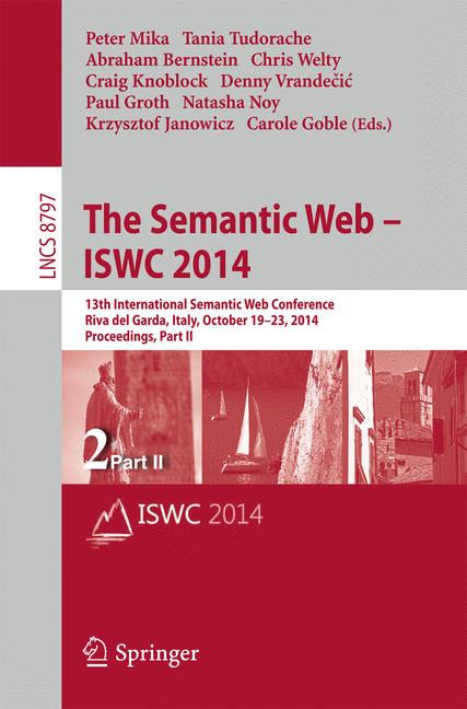 Cover of 'The Semantic Web – ISWC 2014'