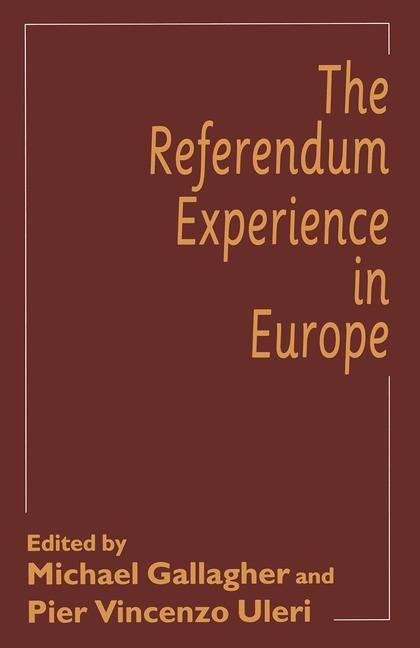 Cover of 'The Referendum Experience in Europe'