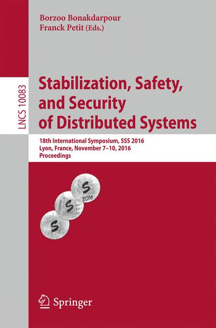Cover of 'Stabilization, Safety, and Security of Distributed Systems'
