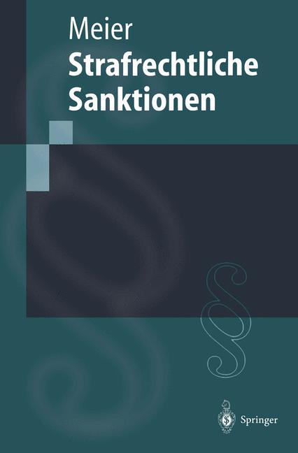 Cover of 'Strafrechtliche Sanktionen'