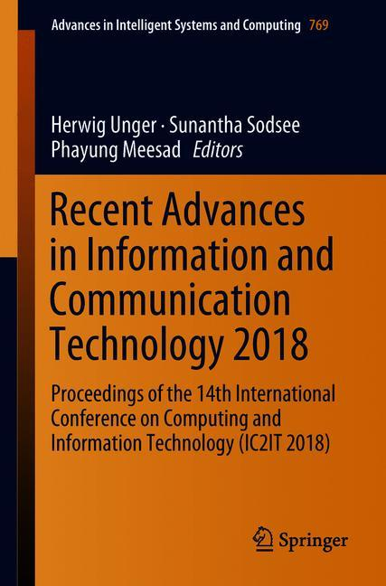 Cover of 'Recent Advances in Information and Communication Technology 2018'