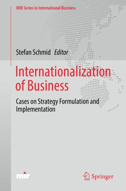 Cover of 'Internationalization of Business'