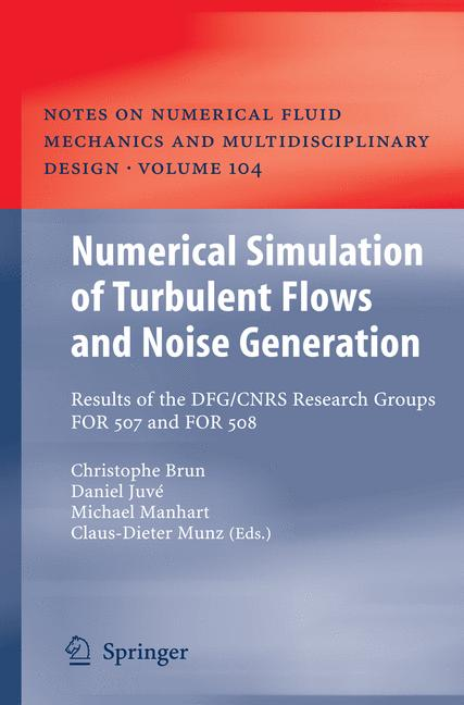 Cover of 'Numerical Simulation of Turbulent Flows and Noise Generation'