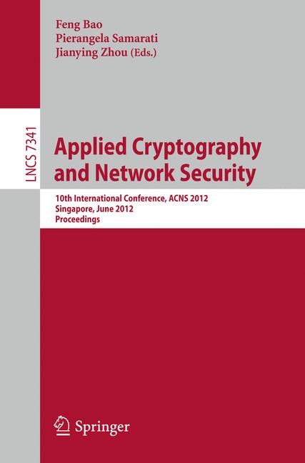 Cover of 'Applied Cryptography and Network Security'