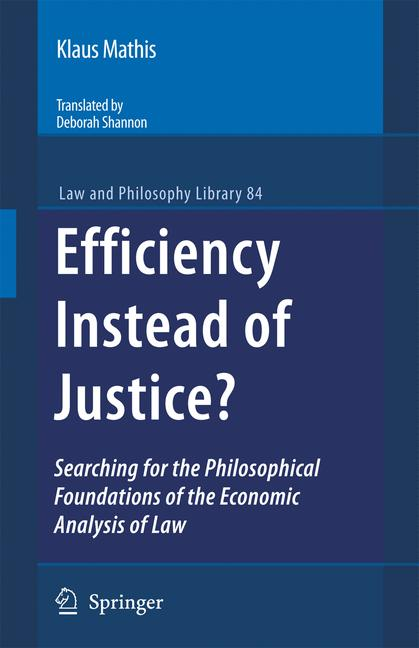 Cover of 'Efficiency Instead of Justice?'