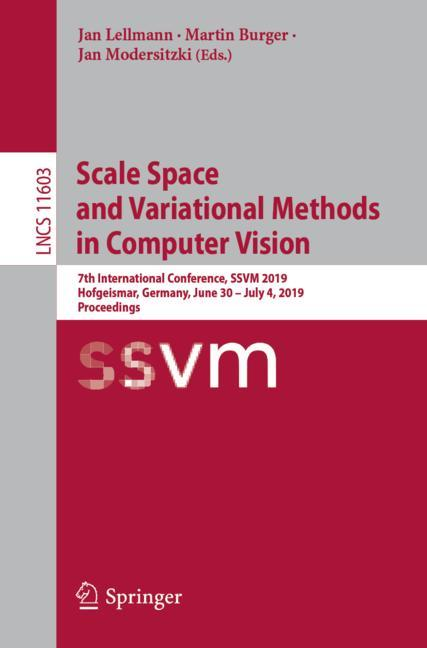 Cover of 'Scale Space and Variational Methods in Computer Vision'