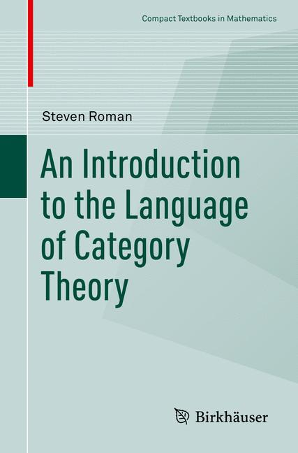Cover of 'An Introduction to the Language of Category Theory'