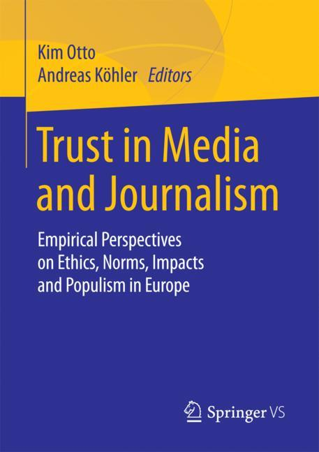Cover of 'Trust in Media and Journalism'