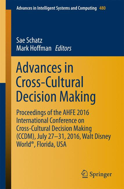 Cover of 'Advances in Cross-Cultural Decision Making'
