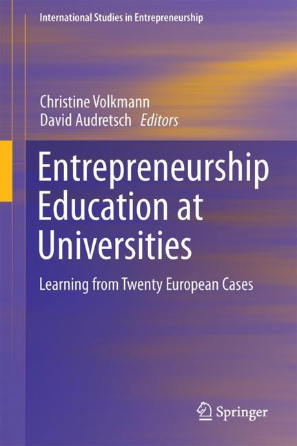 Cover of 'Entrepreneurship Education at Universities'