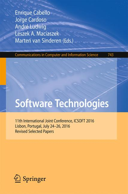Cover of 'Software Technologies'