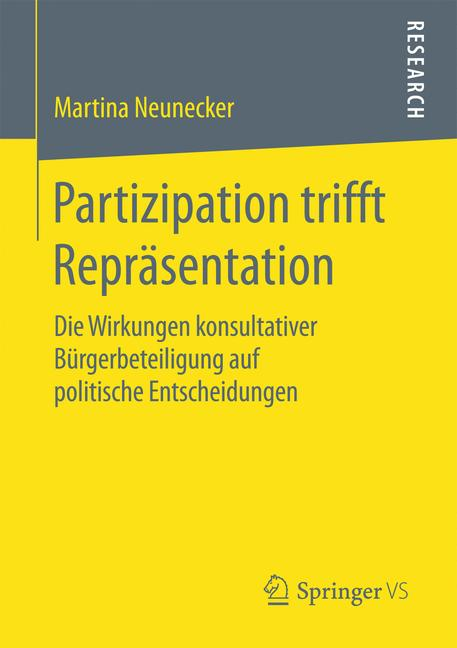 Cover of 'Partizipation trifft Repräsentation'