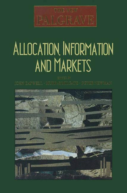Cover of 'Allocation, Information and Markets'