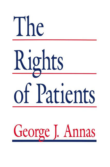 Cover of 'The Rights of Patients'