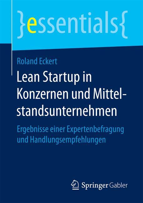 Cover of 'Lean Startup in Konzernen und Mittelstandsunternehmen'