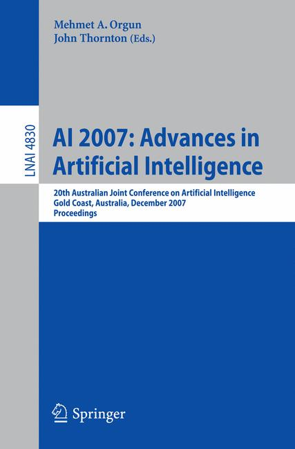 Cover of 'AI 2007: Advances in Artificial Intelligence'