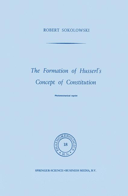 Cover of 'The Formation of Husserl's Concept of Constitution'