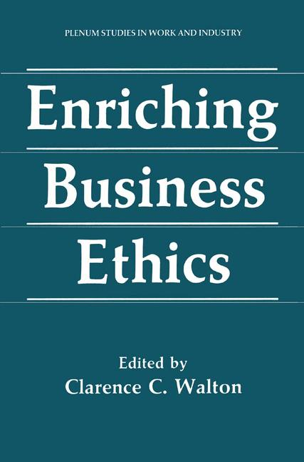 Cover of 'Enriching Business Ethics'