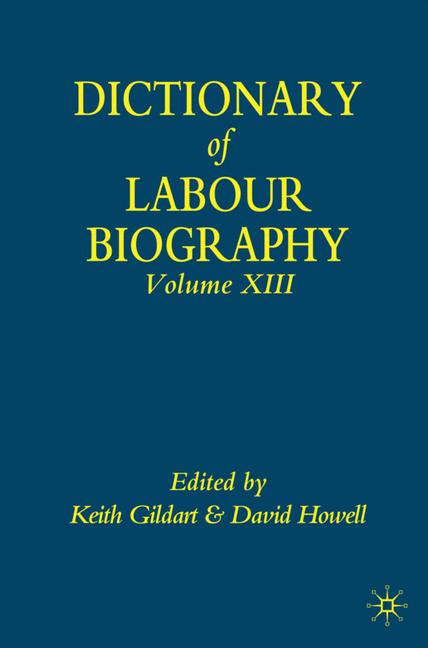 Cover of 'Dictionary of Labour Biography'