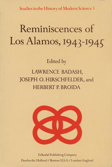 Cover of 'Reminiscences of Los Alamos 1943–1945'