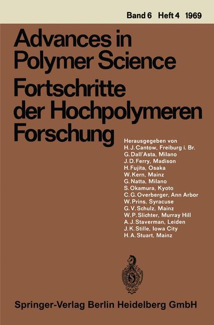 Cover of 'Fortschritte der Hochpolymeren-Forschung'