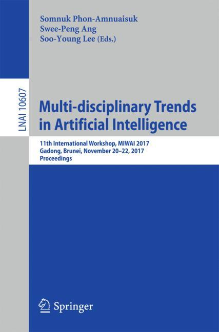 Cover of 'Multi-disciplinary Trends in Artificial Intelligence'
